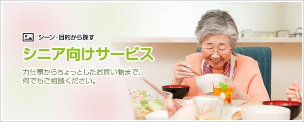 年配の方のお手伝い
