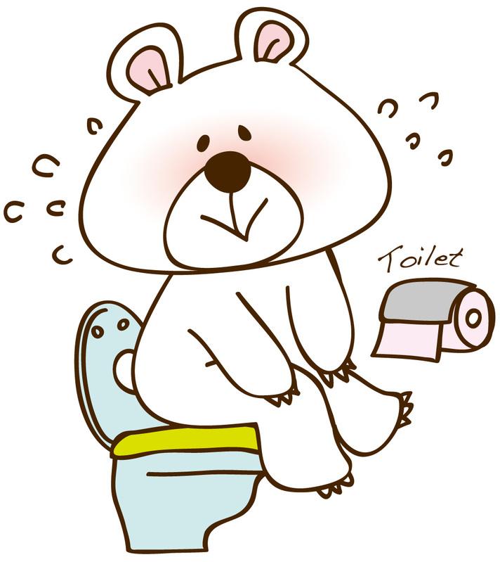 熊さんがトイレ